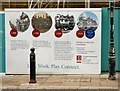 SJ8990 : Hoardings on the White Lion by Gerald England