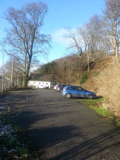Car park behind the scout hut