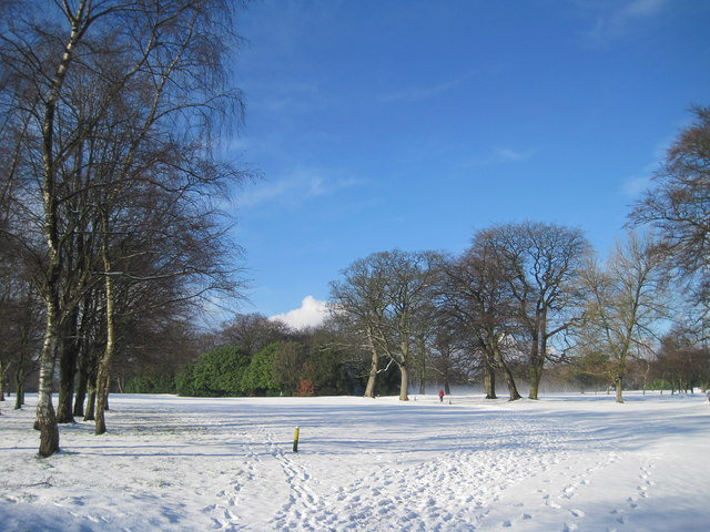 Allerton Golf Course in the snow