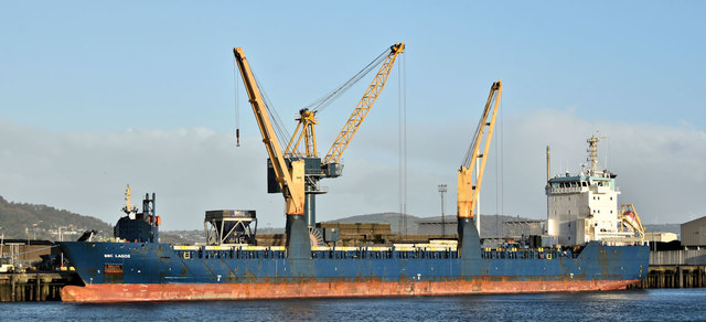 "The ""BBC Lagos"", Belfast harbour (January 2019)"