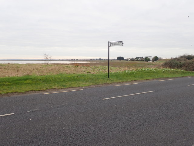 Direction sign on the R173 pointing towards the Blackrock Abbey Nursing Home