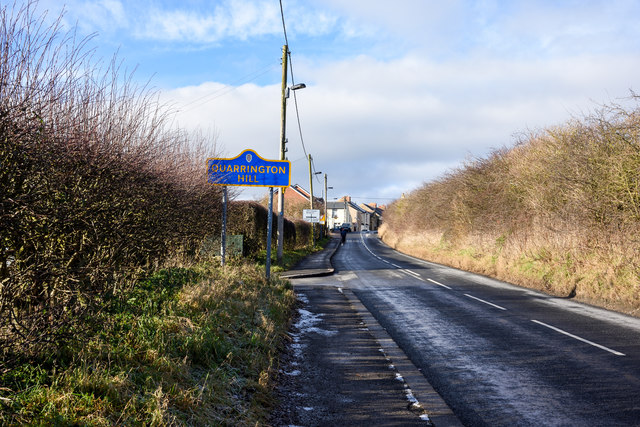 Road entering Quarrington from the south-east