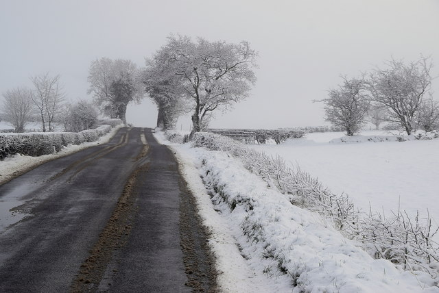 Wintry along Loughmacrory Road
