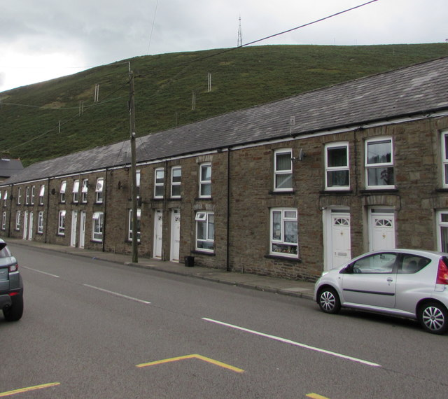 Row of houses, Bridge Street, Ogmore Vale