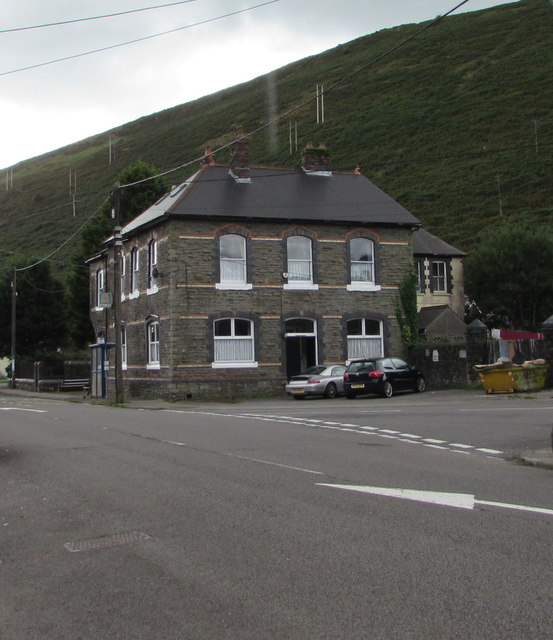 North side of the Corbett Arms, Bridge Street, Ogmore Vale