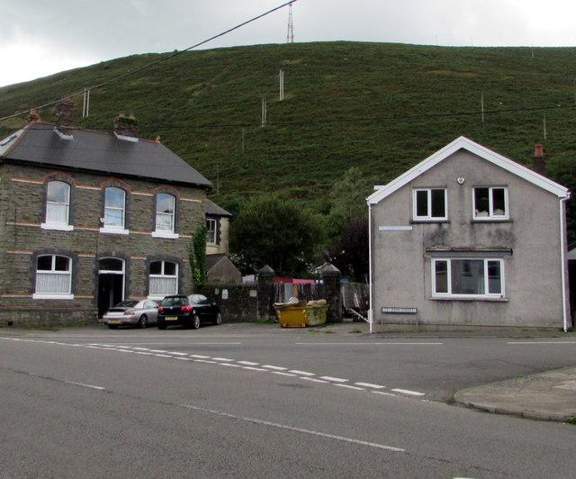 Junction of Bridge Street and St John Street, Ogmore Vale
