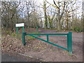 TQ1092 : Entrance to Oxhey Woods by Marathon