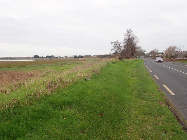 The R172 (Coast Road) running West parallel with the Fane Estuary