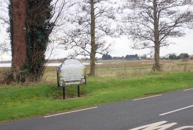 The Fane Estuary Information Panel alongside the R172
