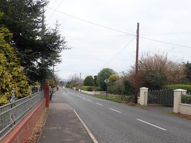 View North-eastwards along  Rock Road, Blackrock