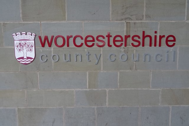 Worcester County Council sign