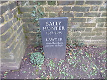 TQ2886 : The grave of Sally Hunter in Highgate Cemetery by Marathon