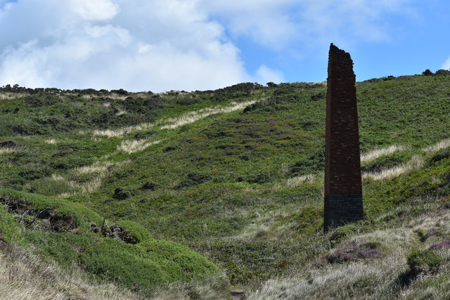 Engine house chimney at Trefrane Cliff Colliery