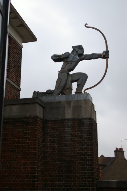 East Finchley station: the archer sculpture