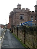 SK5803 : County Gaol, Leicester, north side along Tower Street by Alan Murray-Rust