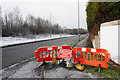 SJ4789 : Closed footpath by the A5080 by Bill Boaden