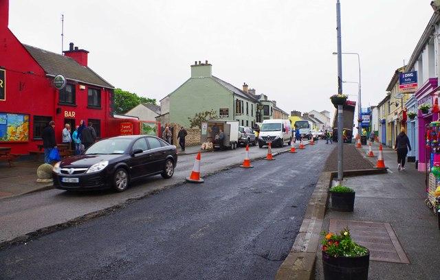 Resurfacing Main Street, Falcarragh, Co. Donegal