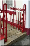 SK5803 : Railings and gate at Crescent Cottages, King Street, Leicester by Alan Murray-Rust
