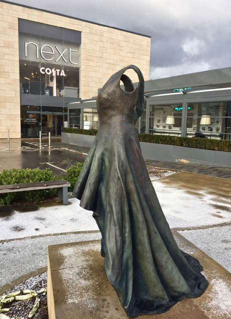 Dress sculpture, Kingswood, Hull