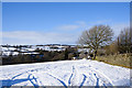 NZ1037 : Quad bike tracks in snow by Trevor Littlewood