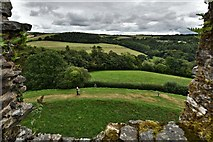 SX1061 : Restormel Castle: The view from the Wall-walk next to the chapel by Michael Garlick