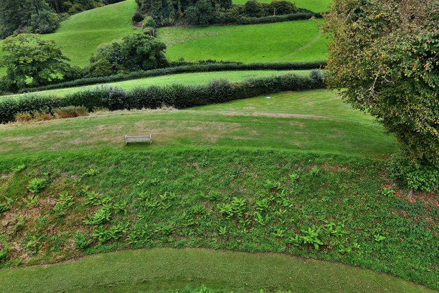 Restormel Castle: View from the Gatehouse Wall-walk