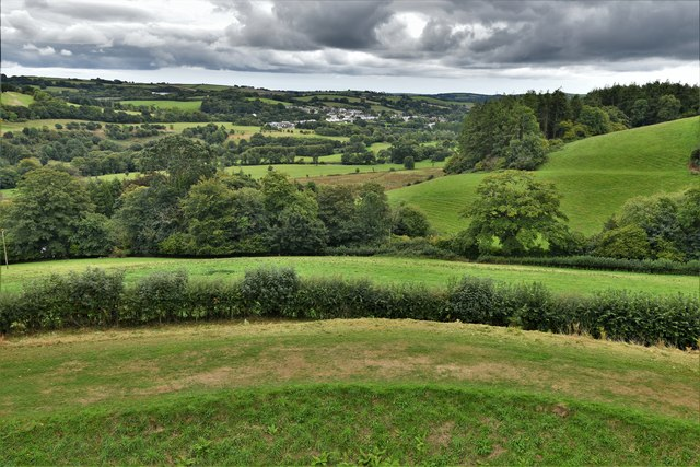 Restormel Castle: View from the Wall-walk above the Kitchen
