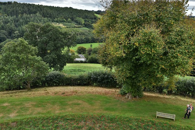 Restormel Castle: View from the Wall-walk above the Hall