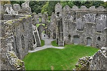 SX1061 : Restormel Castle: The Gatehouse from the Wall-walk by Michael Garlick