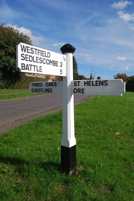 Old Direction Sign - Signpost by Moor Lane, Westfield Parish