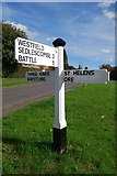 TQ8115 : Old Direction Sign - Signpost by Moor Lane, Westfield Parish by Milestone Society