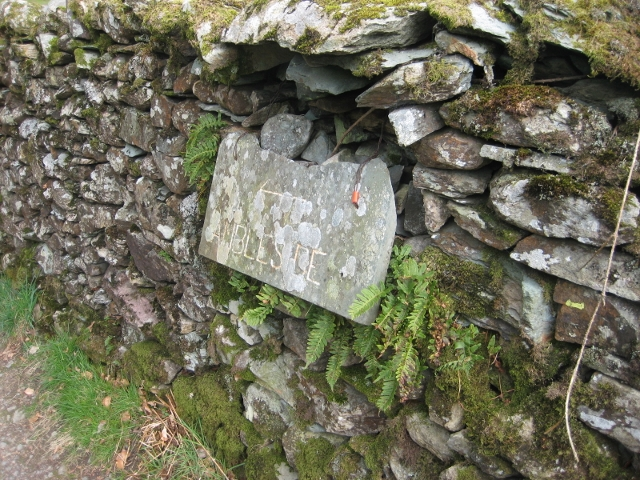 Old Guide Stone below Loughrigg Fell, Lakes Parish