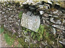 NY3404 : Old Guide Stone below Loughrigg Fell, Lakes Parish by Milestone Society