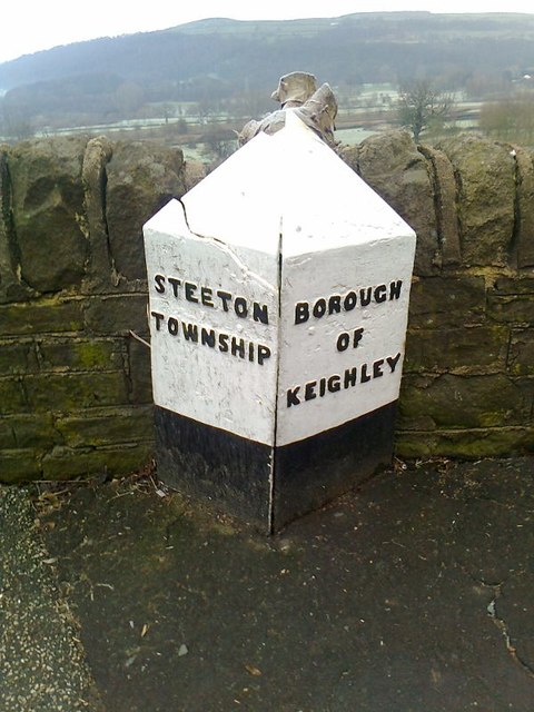 Old Boundary Marker by the B6265, Steeton with Eastburn Parish