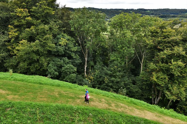 Restormel Castle: View from the Guardroom Wall-walk