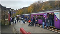 SD9324 : An overcrowded train at Todmorden station by Phil Champion