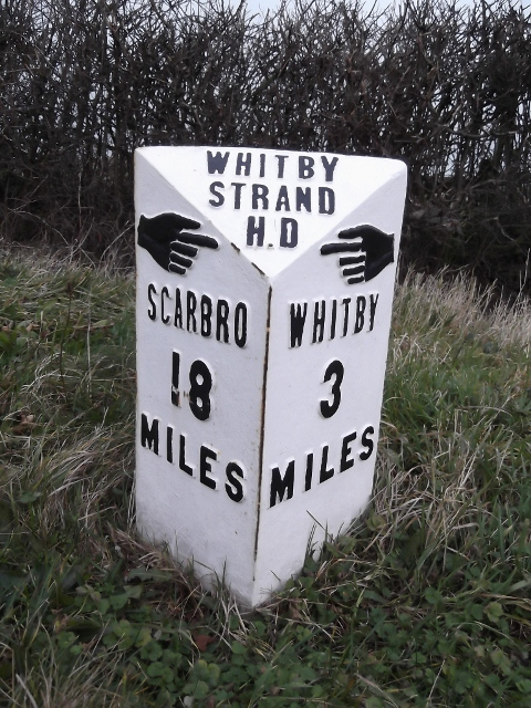 Old Milepost by the A171, Hawsker Lane junction, north of High Hawsker by C Minto