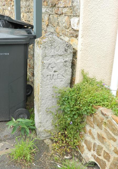 Old Milestone by the Blagdon Inn, Blagdon Hill, Pitminster Parish