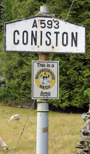 Old Village Signpost by the A593, Coniston Parish
