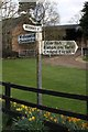 SJ6327 : Old Direction Sign - Signpost by Milestone Society