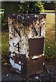NZ2470 : Old Milepost by IA Davison
