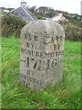 NS2005 : Old Milestone by the A77, Kirkoswald Road, Turnberry by Milestone Society