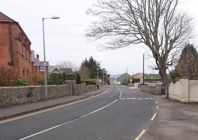 View North at a bend in the R172 (Coast Road) at Blackrock