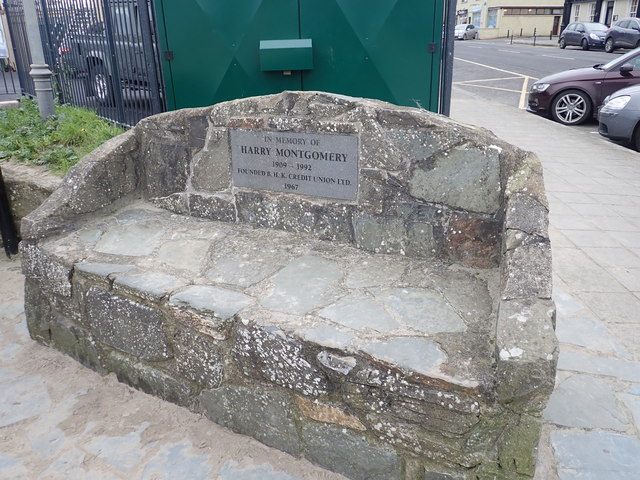 The  Harry Montgomery Memorial Seat on the Promenade at Blackrook