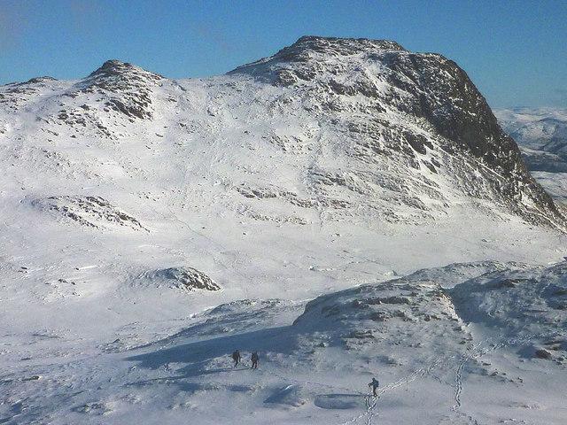 Crossing Harrison Combe in deep snow