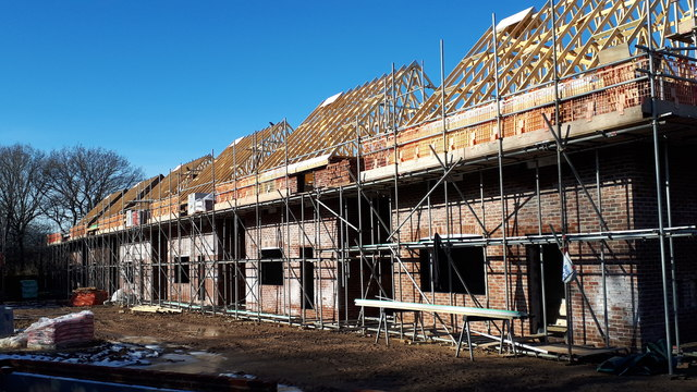 New house construction on Lower Brownhill Road