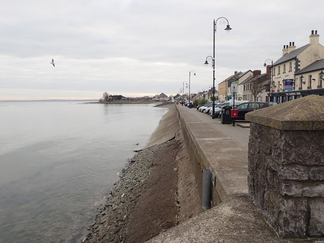 The seawall on Blackrock Promenade