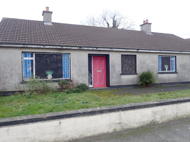 Virtual frontage on disused cottage on Main Street, Blackrock