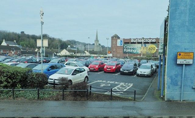 Dublin Road Car Park at the Buttercrane Shopping Centre