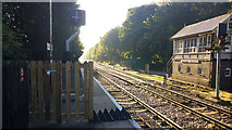 SD9926 : East of platform 2, Hebden Bridge railway station by Phil Champion